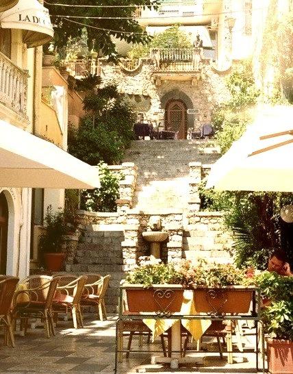 Stairway, Sicily, Italy