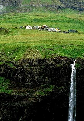 Waterfall, Faroe Islands