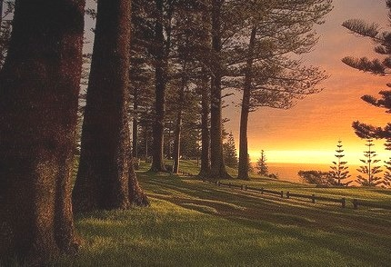 Sunset, Norfolk Island, South Pacific