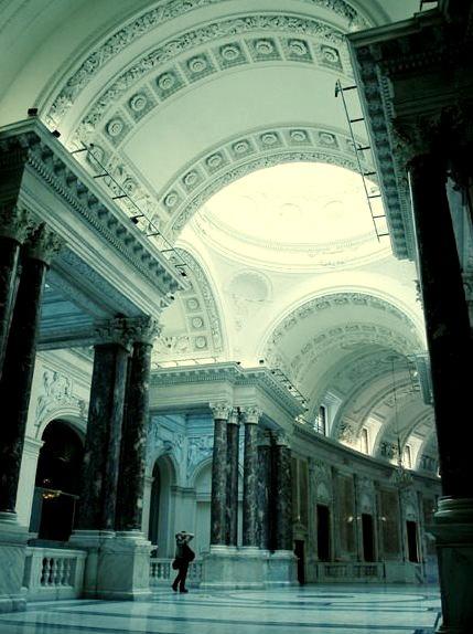 Blue Light, Hofburg Palace, Vienna, Austria