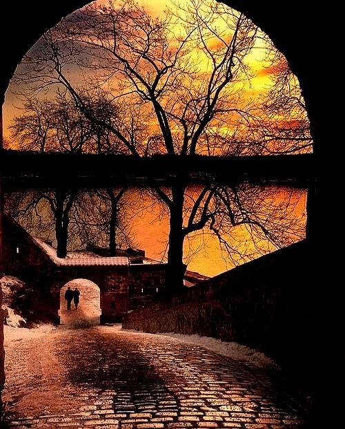 Winter Sunset, Akershus Castle, Oslo, Norway